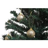 Gisela Graham Glitter Baubles Tube, Gold