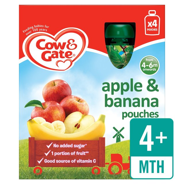 Cow & Gate Apple & Banana 100% Fruit Pouches