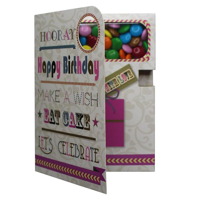 Happy Birthday Card With Chocolate Beans From Ocado