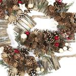 Natural Christmas Garland, Red