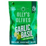 Olly's Olives Basil & Garlic Green Halkidiki Olives - The Connoisseur