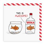Vodka Goldfish Greeting Card by Ohh Deer