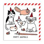 Party Animals Square Greeting Card by Ohh Deer