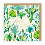 Cacti Thank You Greeting Card by Ohh Deer