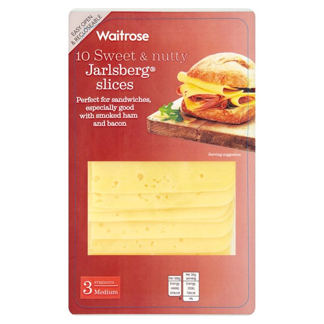 Waitrose 10 Jarlsberg Slices 200g From Ocado