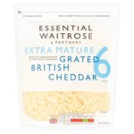 Essential Waitrose Grated Extra Mature Cheddar