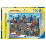 Doodling Around London Landmarks 500pc Jigsaw Puzzle, 10yrs+