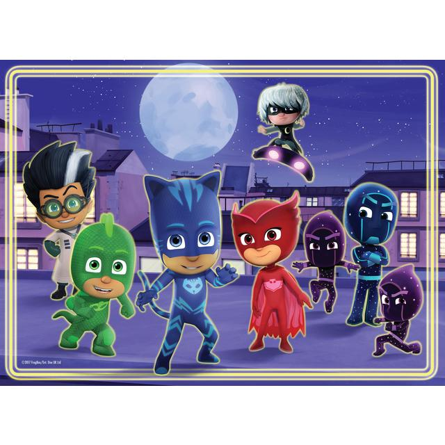 pj masks 60pc glow in the dark jigsaw puzzle 4yrs from ocado