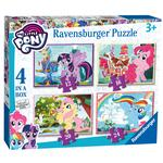 My Little Pony 4 in a Box Jigsaw Puzzles, 3yrs+