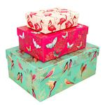 Sara Miller Gold Hazel Nest of 3 Gift Boxes and Tags