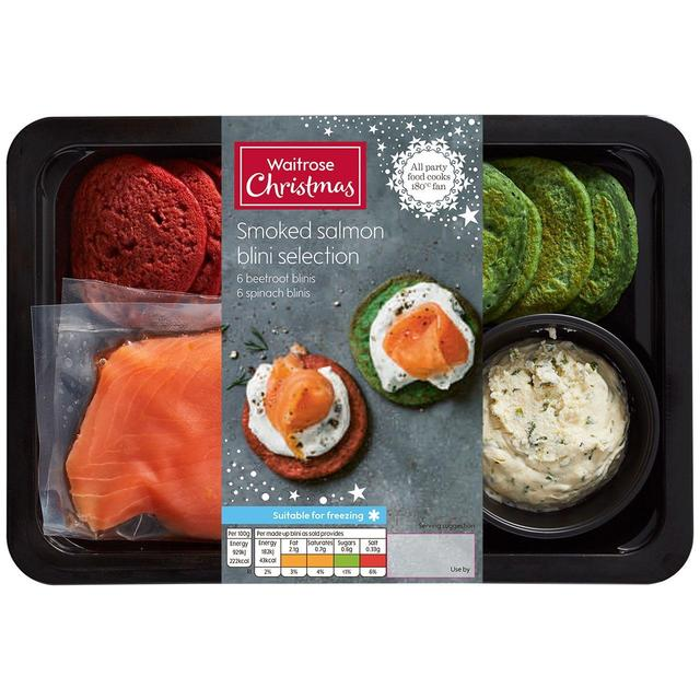 Waitrose 12 Smoked Salmon Blinis Ocado