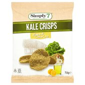 Simply7 Kale Crisps Lemon & Olive Oil