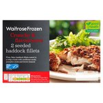 Waitrose 2 Haddock Fillets Multi Seeded Crust Frozen