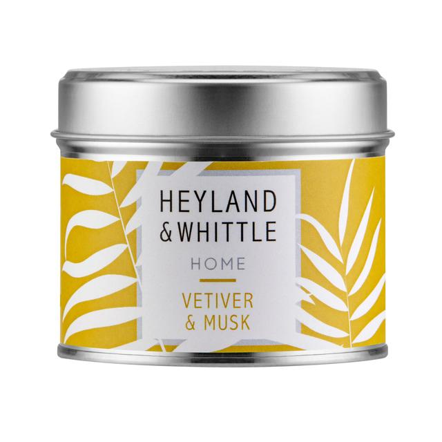 Heyland & Whittle Home Vertiver & Musk Scented Candle Tin
