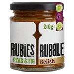Rubies in the Rubble Pear Fig & Port Chutney