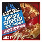 Chicago Town Take Away Pepperoni Pizza Stuffed Crust Frozen