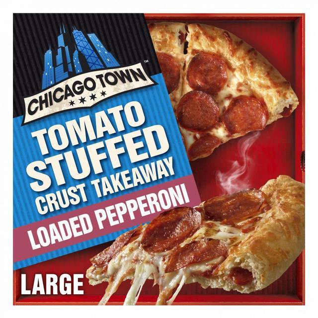 chicago town take away pepperoni pizza stuffed crust frozen 645g