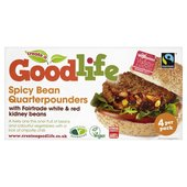 Goodlife Frozen Spicy Bean Quarter Pounders