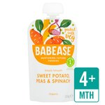 Babease Organic, Sweet Potato, Peas & Spinach