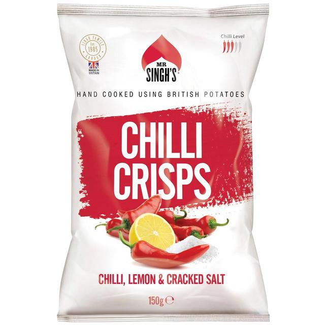 Mr. Singhs Hand Cooked Chilli, Lemon & ed Salt Luxury Crisps ... on nabisco wafer peanut butter cookies, nestle peanut cookies, peanut shaped cookies, planters peanuts from the 90 s, planters snacks, nutter butter peanut cookies, reese's peanut cookies, keebler peanut cookies,