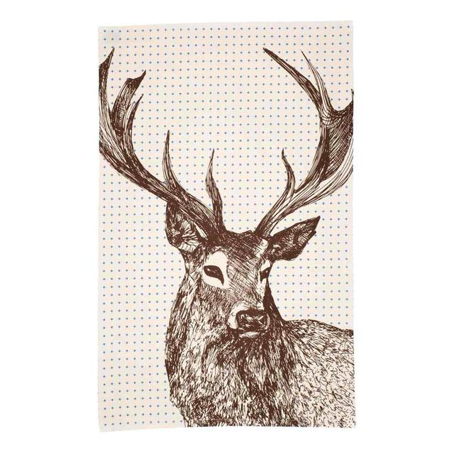 cherith harrison noble stag tea towel