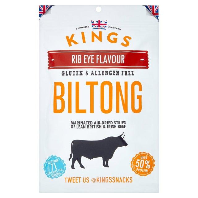 Kings Elite Snacks Rib Eye Biltong Titan Pack   Ocado