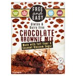 Free & Easy Gluten Dairy Yeast Free Chocolate Brownie Cake Mix