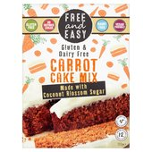 Free & Easy Free From Gluten Dairy Yeast Free Carrot Cake Mix