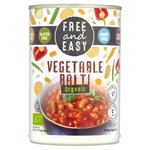 Free & Easy Free From Dairy Free Organic Vegetable Balti Ready Meal