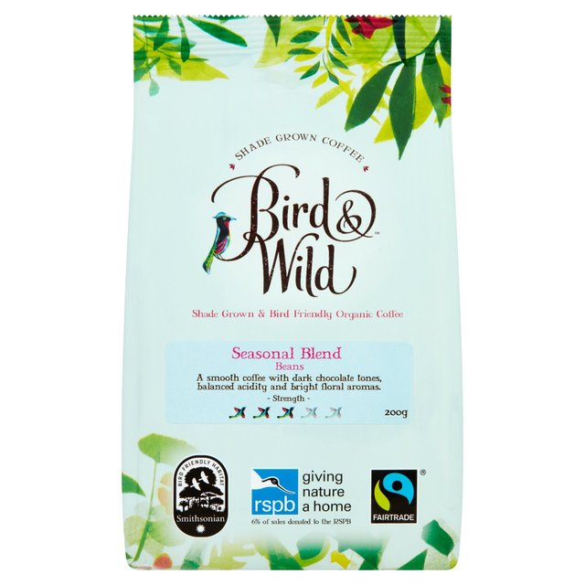 Bird Wild Seasonal Blend Fairtrade Organic Whole Bean