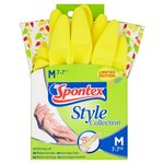 Spontex Style Rubber Gloves with long cuff- medium