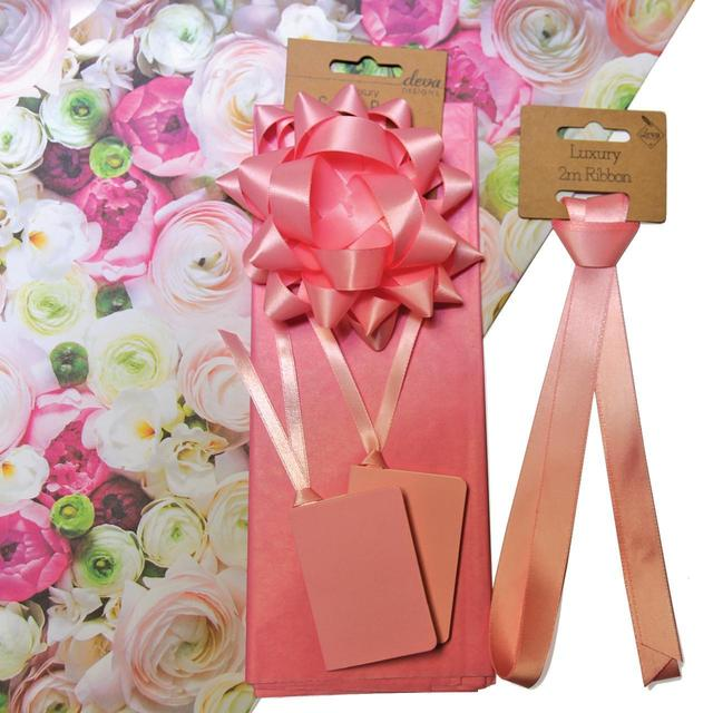 Floral bouquet tissue paper tag bow wrap pack from ocado floral bouquet tissue paper tag bow wrap pack mightylinksfo
