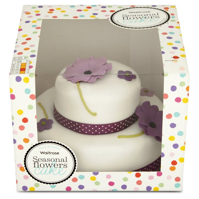Waitrose 2 Tier Seasonal Flowers Cake 20 Servings 1195kg