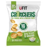 UFIT Crunchers High Protein Popped Chips Sour Cream & Onion
