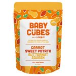 LICKALIX Baby Cubes Carrot, Butternut Squash & Sweet Potato