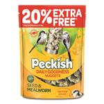 Peckish Daily Goodness Suet Nuggets For Wild Birds, 1kg + 20% Extra Free