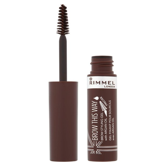 Rimmel Brow this Way Argan Oil Gel, Dark Brown