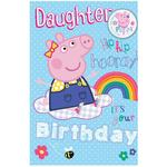 Peppa Pig Large Daughter Birthday Card