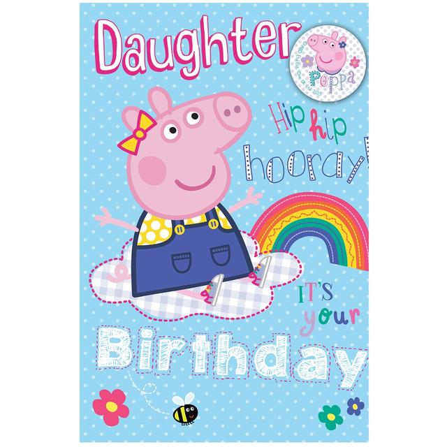 Peppa Pig Large Daughter Birthday Card From Ocado