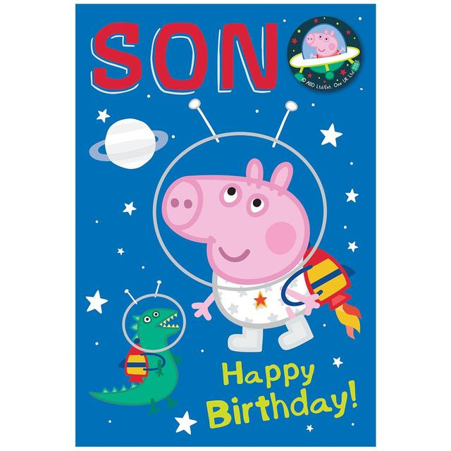 Peppa Pig Large Son Birthday Card From Ocado
