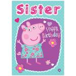 Peppa Pig Sister Birthday Card.
