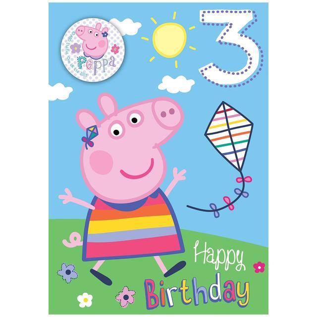 Peppa Pig Age 3rd Birthday Card From Ocado