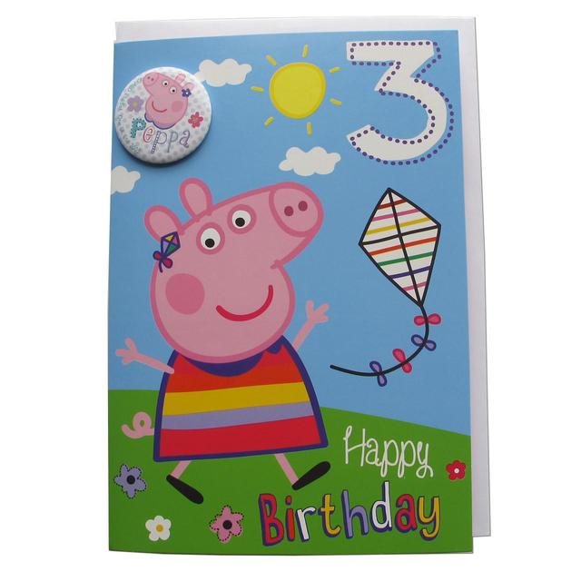 Peppa Pig Age 3rd Birthday Card From Ocado