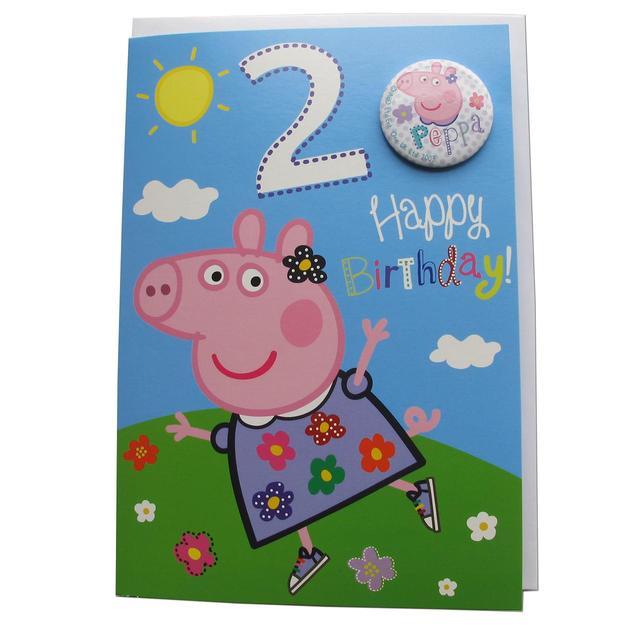 Peppa Pig Age 2nd Birthday Card From Ocado
