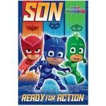 PJ Masks Son Birthday Card