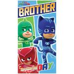 PJ Masks Brother Birthday Card
