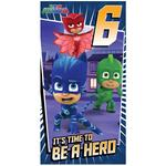PJ Masks 6th Birthday Card