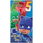 PJ Masks 5th Birthday Card