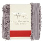 Waitrose Home Egyptian Cotton Twin Pack Face Cloth Dove