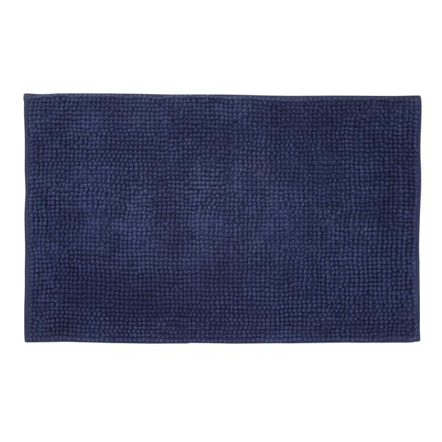 Waitrose Bath Mat Navy Blue